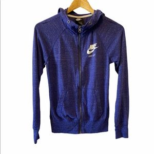 NIKE Feathered Purple Light Fitted Hoodie XS